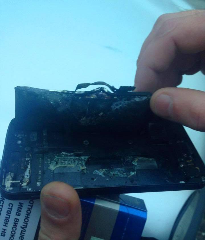 Iphone 5 запалена батерия